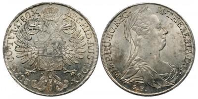 Mária Terézia tallér 1780 S.F./S.T. Milánó
