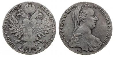 Mária Terézia tallér  1780 S.F. Milánó