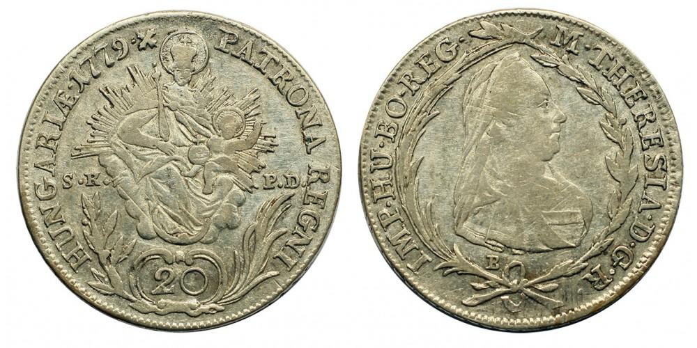 Mária Terézia 20 Krajcár 1779 B