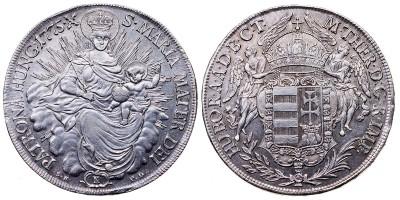 Mária Terézia tallér 1775 S.K.P.D./B