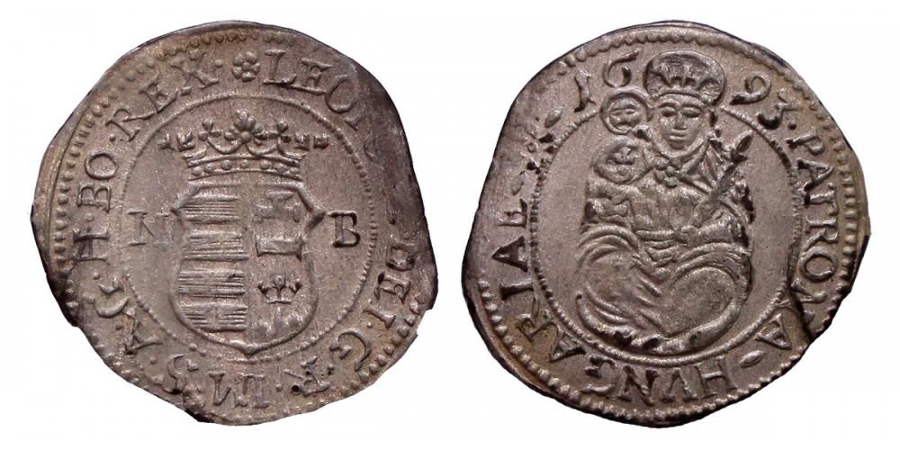 I.Lipót denár 1693 NB. R!