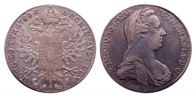 Mária Terézia tallér 1780 I.C.F.A