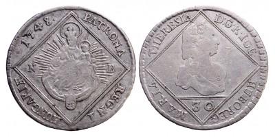 Mária Terézia 30 krajcár 1748 NB.