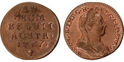 Mária Terézia liard 1777 Brüsszel