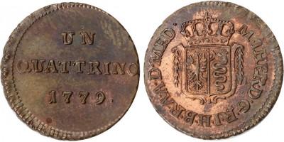 Mária Terézia quattrino 1779 Milánó