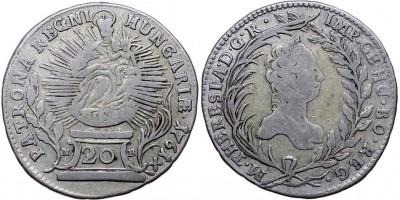 Mária Terézia 20 krajcár 1761 NB Nagybánya