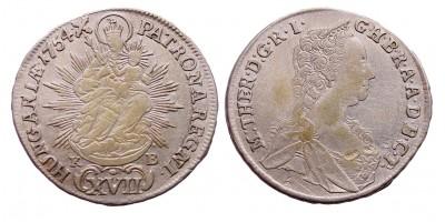 Mária Terézia XVII Krajcár 1754 KB