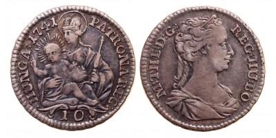 Mária Terézia 10 denár 1741 KB.