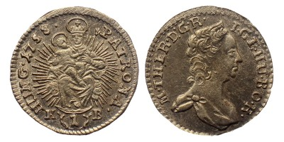 Mária Terézia 1 kreuzer 1758 KB