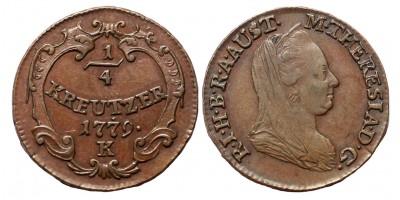 Mária Terézia 1/4 krajcár 1779 K R!