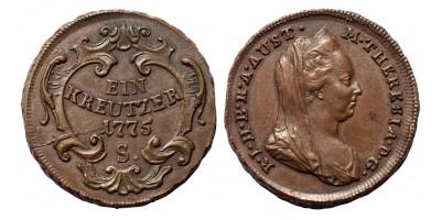 Mária Terézia krajcár 1775 S R!