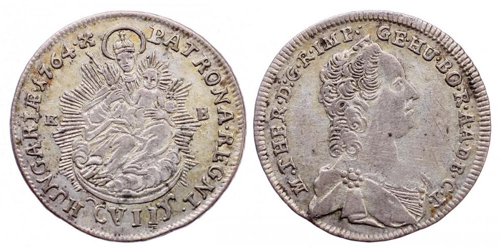 Mária Terézia VII krajcár 1764 KB.