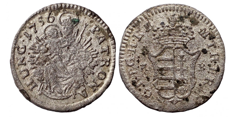 Mária Terézia denár 1756 KB