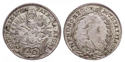 Mária Terézia 20 krajcár 1772 E.V.M.D./B
