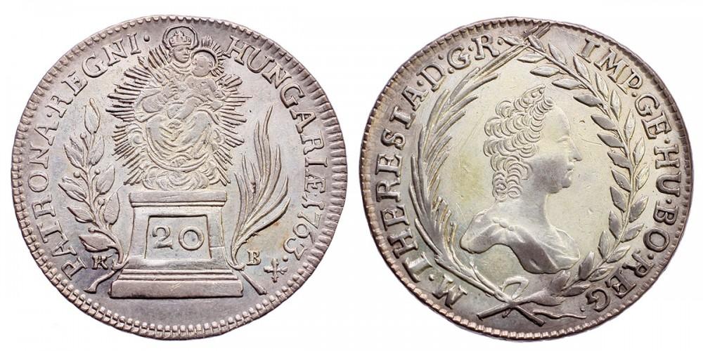 Mária Terézia 20 Krajcár 1763 KB