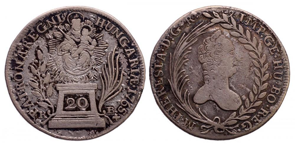 Mária Terézia 20 krajcár 1765 KB