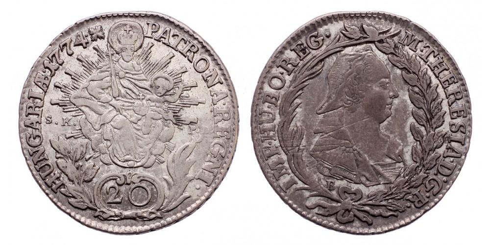 Mária Terézia 20 Krajcár 1774 B/S.K.P.D.