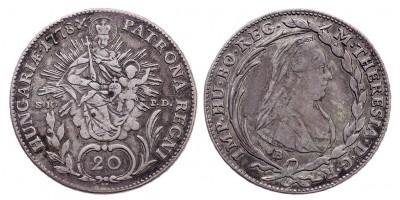 Mária Terézia 20 Krajcár 1778 B/S.K.P.D.