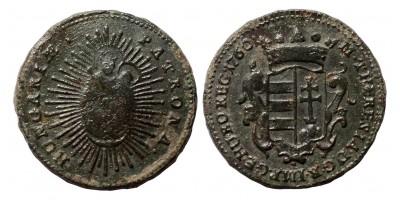Mária Terézia rézdenár 1760 jn.