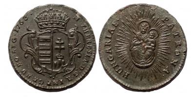 Mária Terézia rézdenár 1763 jn.