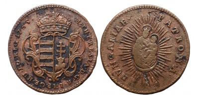Mária Terézia rézdenár 1765 jn.