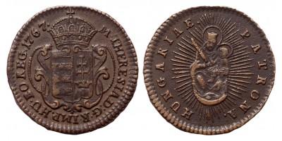 Mária Terézia 1/2 rézdenár 1767 jn.