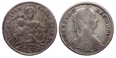 Mária Terézia xv  krajcár 1743 KB