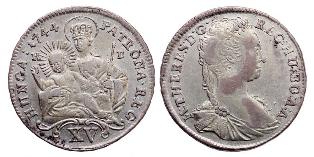 Mária Terézia XV krajcár 1744 KB.