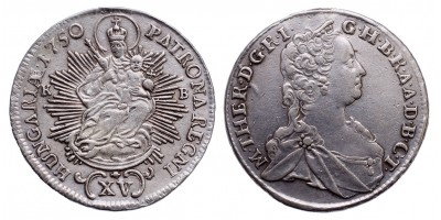 Mária Terézia XV kreuzer 1750 KB.