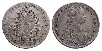 Mária Terézia XVII kreuzer 1752 KB.