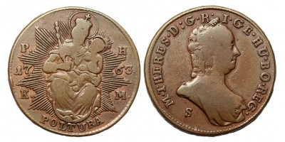 Mária Terézia rézpoltura 1763 S