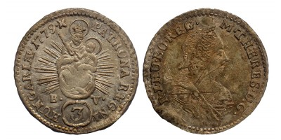 Mária Terézia 3 krajcár 1779 B.V