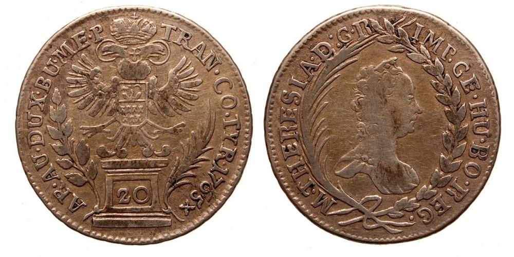 Mária Terézia 20 krajcár 1765 Gyulafehérvár