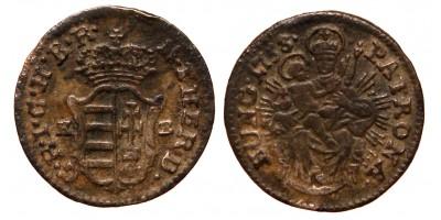 Mária Terézia krajcár 1758 KB