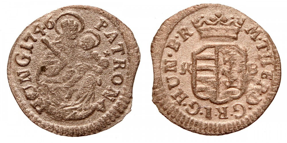 Mária Terézia denár 1746 KB.