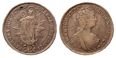 Mária Terézia 1/2 tallér 1763 KB