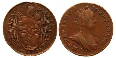 Mária Terézia poltura 1763 PH KM