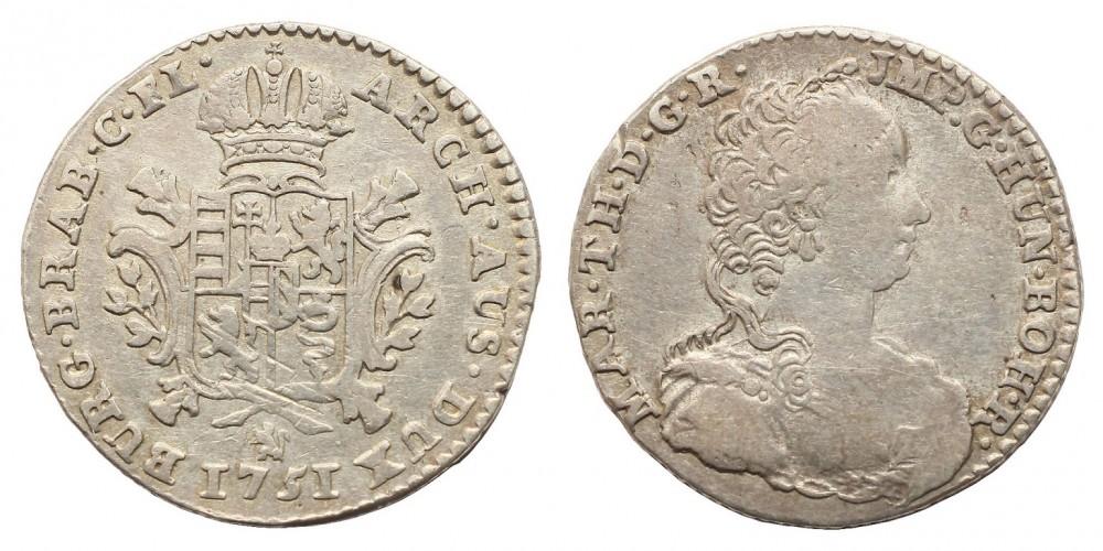 Mária Terézia 1/4 ducaton 1751