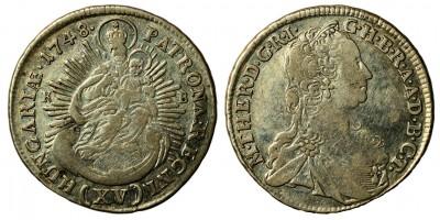 Mária Terézia 15 krajcár 1748 KB