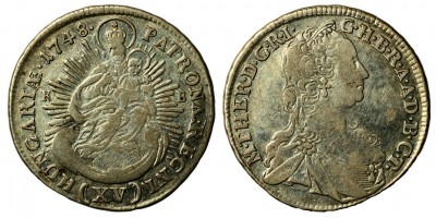Maria Theresia 15 kreuzer 1748 KB