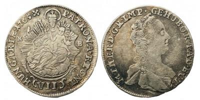 Mária Terézia VII krajcár 1765 KB