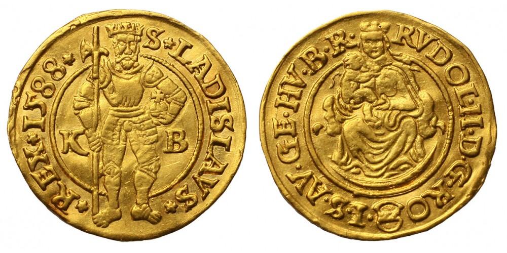 Rudolf dukát 1588 KB. R!