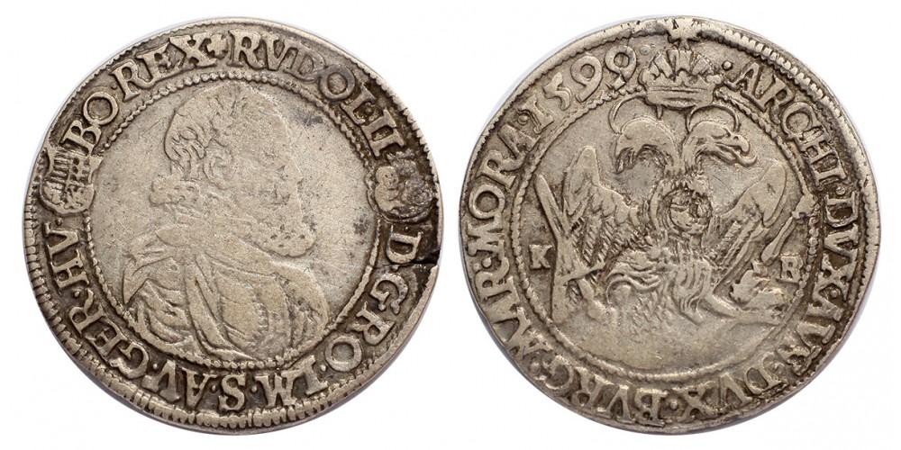 Rudolf 1/4 tallér 1599 KB.