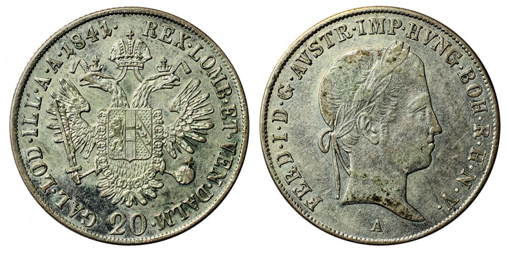 V.Ferdinánd 20 krajcár 1841 A