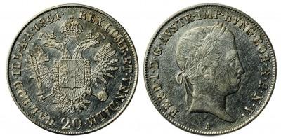 Ferdinand V. 20 kreuzer 1841 A