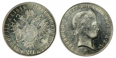 Ferdinand V. 20 kreuzer 1844 C