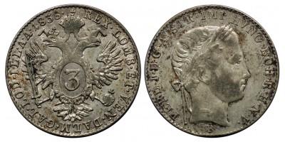V. Ferdinánd 3 krajcár 1838 B