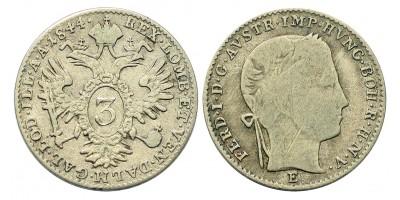 V. Ferdinánd 3 krajcár 1844 E