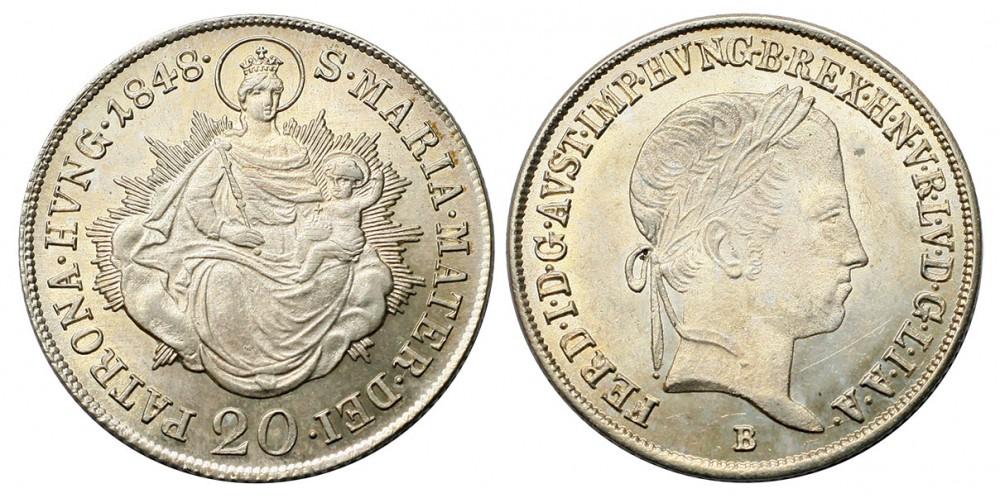 V. Ferdinánd  20 krajcár 1848 B