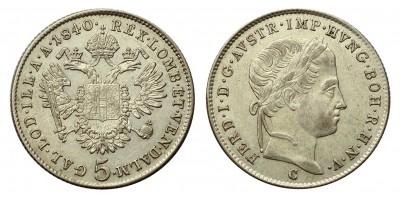 V.Ferdinánd 5 krajcár 1840 C